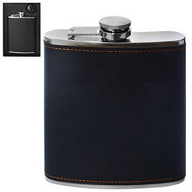 Фляга сувенирная стальная Stenson R86704 260мл, черный