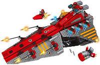 Конструктор 3D Космический корабль (Космолет) Space, 1472 детали + 3 человечка