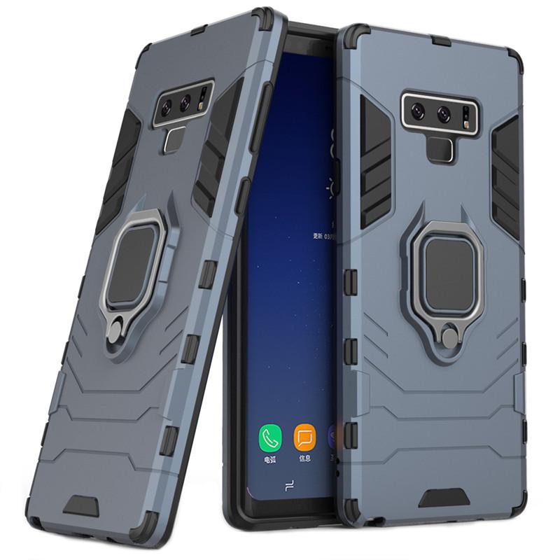 Чехол Ring case для Samsung Galaxy Note 9 (N960) бронированный бампер с кольцом темно-синий