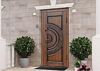 Двери входные металлические ПВ-82 V Дуб темный Vinorit (Патина) 860*2050левая