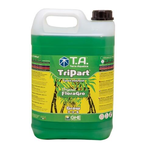 Питательный раствор для гидропоники Terra Aquatica Tripart Gro (Flora Gro) 5л