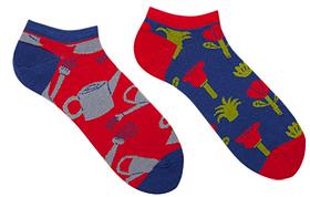 Короткие женские носки Sammy Icon Jardin Short 36-40 Красно-синие