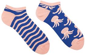 Короткие носки мужские Sammy Icon Octo Short 40-46 Сине-кремовые