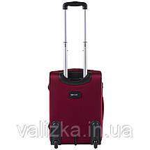 Малий текстильний валізу червоний з розширювачем Wings 1601, фото 3