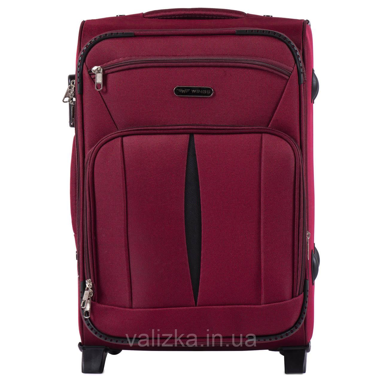 Малий текстильний валізу червоний з розширювачем Wings 1601