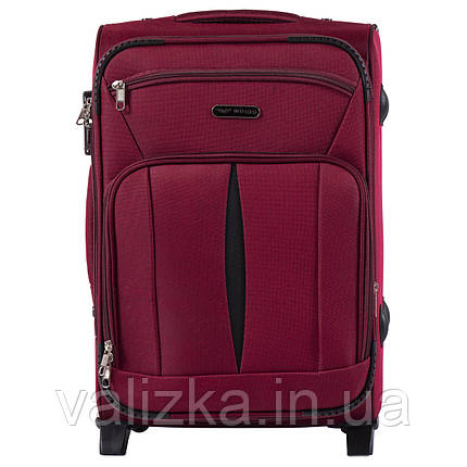 Малий текстильний валізу червоний з розширювачем Wings 1601, фото 2