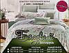 Евро  комплект двухспального  постельного белья  с цветами, фото 3