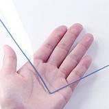 Мягкое стекло (пленка ПВХ). Рулон. Прозрачный 2мм., 1,4м ширина, 15,34кв.м., фото 5