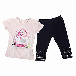 Футболка і штани для дівчинки, розміри 5, 6, 7, 8 років