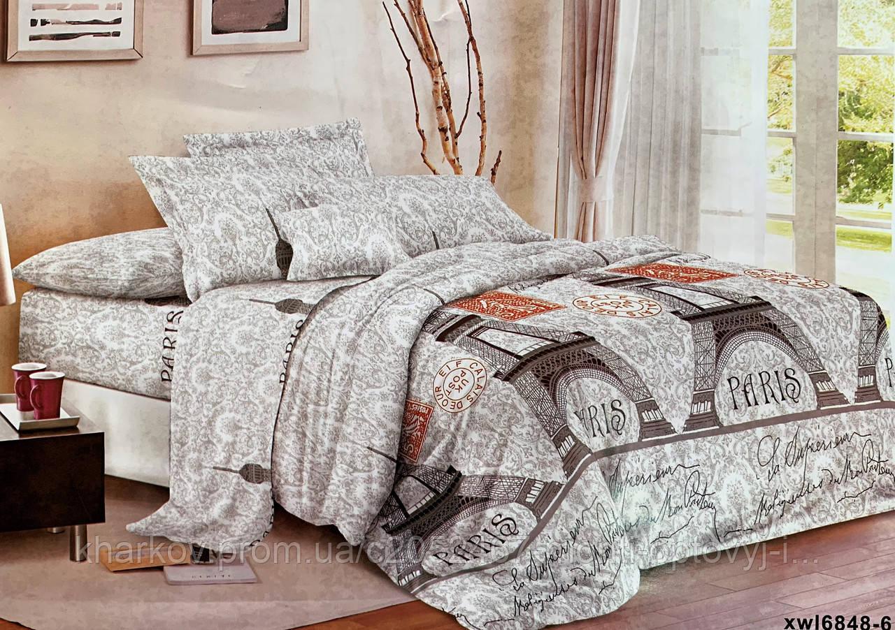 Стильний євро комплект двухспального постільної білизни
