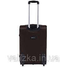 Средний текстильный чемодан кофейный с расширителем Wings 1601, фото 3