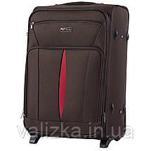 Средний текстильный чемодан кофейный с расширителем Wings 1601, фото 2