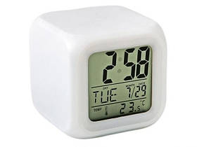 Часы хамелеон будильник термометром  ночник Спартак