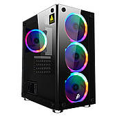 Корпус 1stPlayer X2-R1 Color LED Black без БП