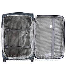 Средний текстильный чемодан красный с расширителем Wings 1601, фото 3