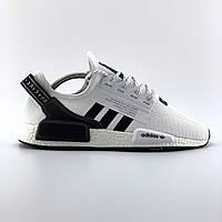Мужские кроссовки Adidas Pharrell Williams NMD Human Race в стиле Адидас НМД БЕЛЫЕ (Реплика ААА+)