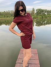 Летний бордовый костюм женский размеры  44-46,48-50,52-54, фото 3