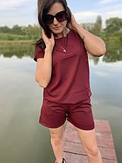 Летний бордовый костюм женский размеры  44-46,48-50,52-54, фото 2