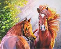Картина по номерам на холсте Лучезарные Лошади 40 х 50 с подрамником