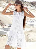Летнее прямое свободное натуральное платье из батиста (1383.4174-4172-4173-4214 svt)