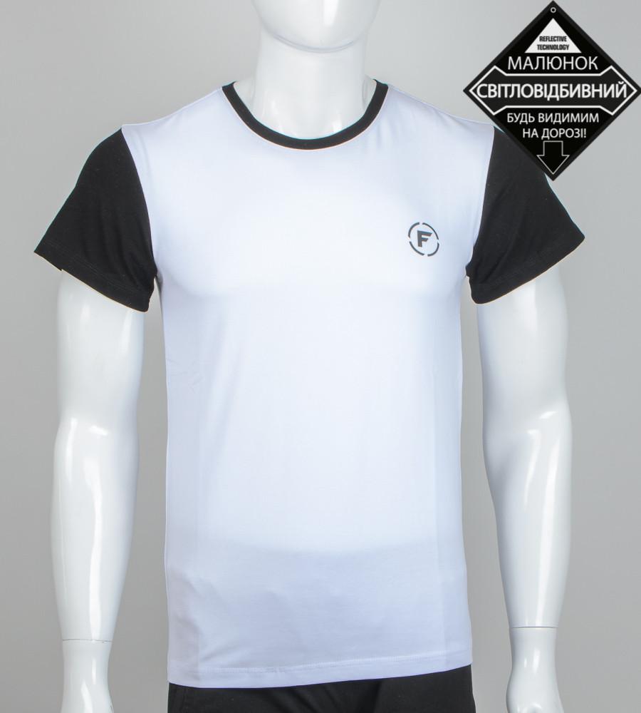 -Р- Футболка мужская светоотражающая FERO Белый (0924м), XL