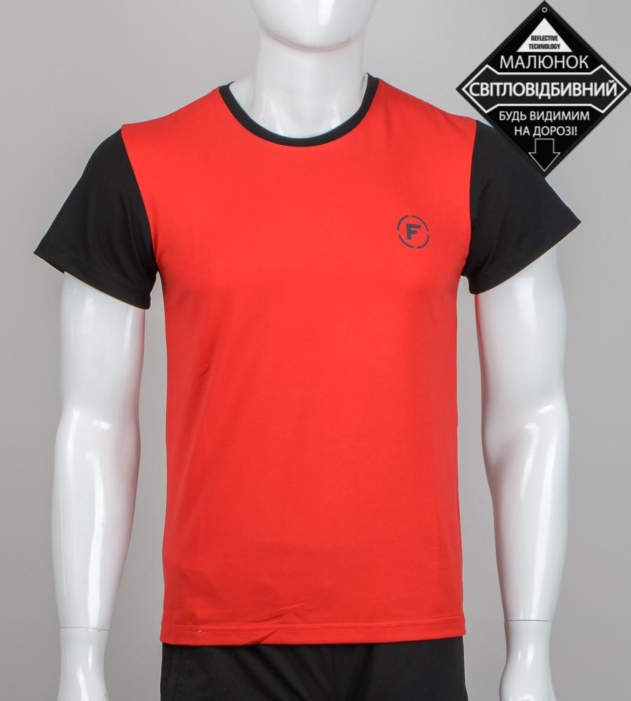 -Р- Футболка мужская светоотражающая FERO Красный (0924м), XL
