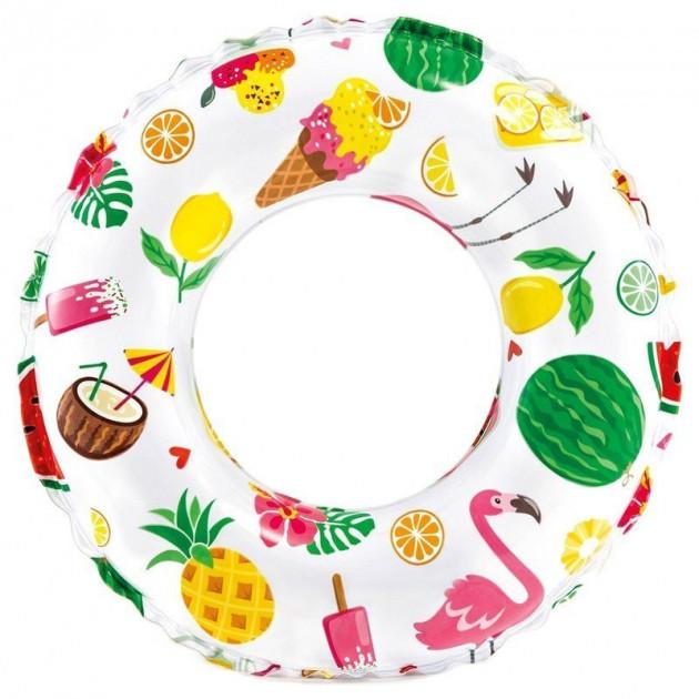 Детский надувной круг для плавания Intex Пляжные сладости  от 6 лет