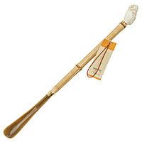 Ложка для обуви SoloVIP длинная бамбуковая Сова Бежевый OR5129B, КОД: 1669568