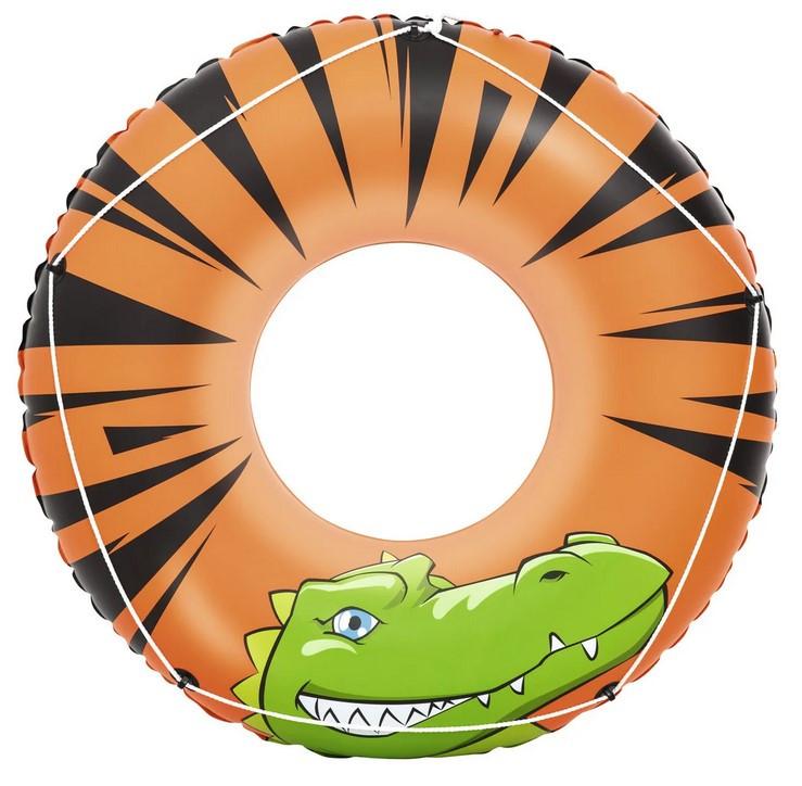 Круг надувной для плавания 119 см со шнуром | Яркий плавательный круг