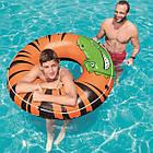 Круг надувной для плавания 119 см со шнуром | Яркий плавательный круг, фото 7