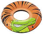 Круг надувной для плавания 119 см со шнуром | Яркий плавательный круг, фото 6