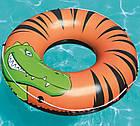 Круг надувной для плавания 119 см со шнуром | Яркий плавательный круг, фото 2