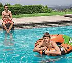 Круг надувной для плавания 119 см со шнуром | Яркий плавательный круг, фото 3