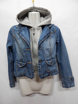 Куртка детская джинсовая here+there, рост 140см., 046д