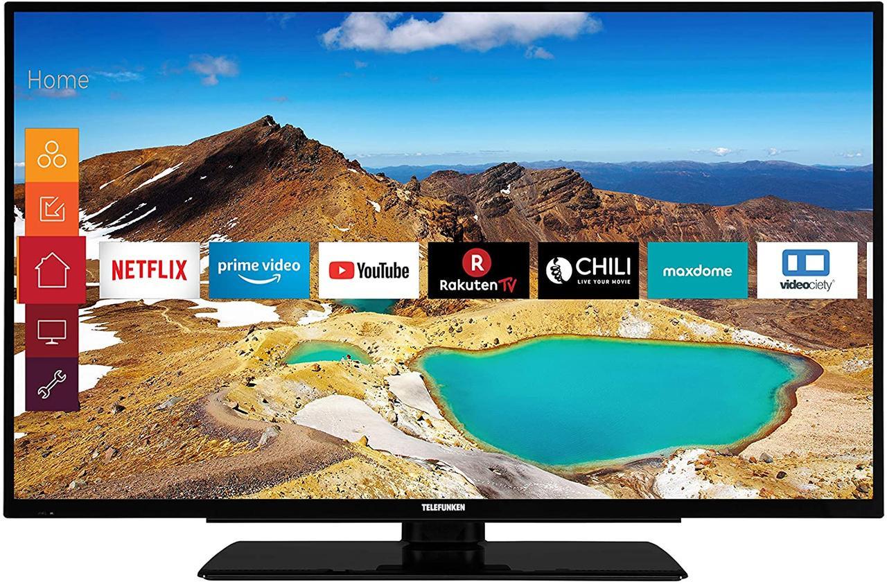 Телевизор Telefunken XU43G521 ( Ultra HD / 4K / 1200Hz / HDR10 / Smart TV / DVB-T2, DVB-C, DVB-S2)