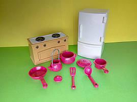 Игровой набор Кухня с холодильником, печкой, посудой - для ЛОЛ