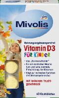 DAS gesunde PLUS Mivolis Vitamin D3 fur Kinder  детские витамины для нормального роста и развития костей 60 шт