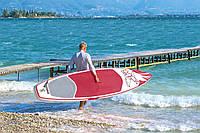 Доска для САП серфинга BESTWAY SUP-БОРД 65306 Бело-красный (381-76-15 см) | Надувная доска для серфинга