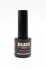 Bravo UV/LED Shimmer Top No Wipe Gold топ з микрошиммером без липкого шару 10 мл