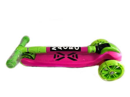Трехколесный самокат Детский Macro - SMART - Pink/Green (scmm-111), фото 2