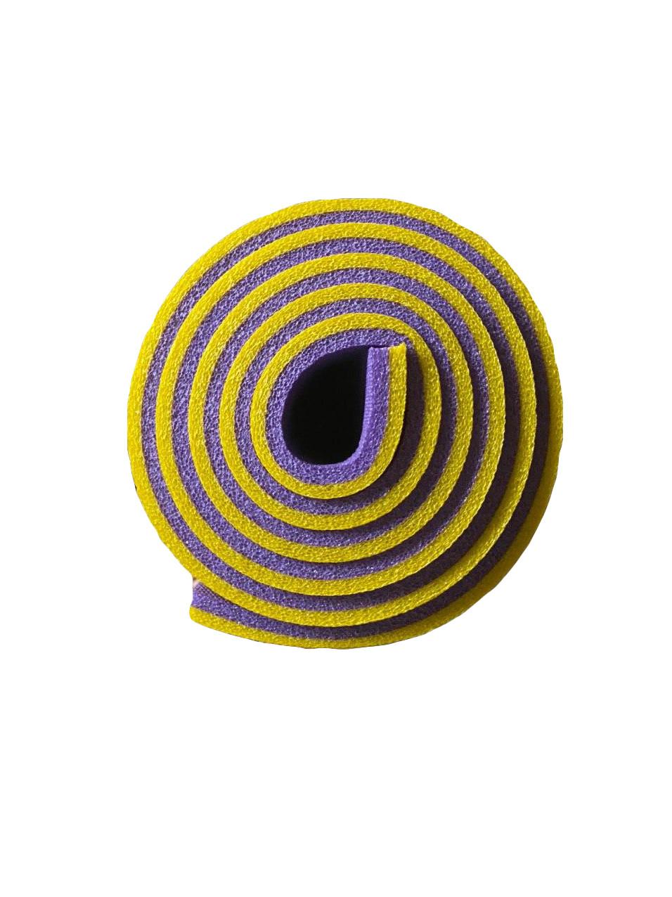 Каремат  желто-фиолетовый, двуслойный, двуцветный т. 10мм, размер 60х180 см, Производитель Украина, TERMOIZOL®