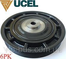Ременной шкив коленчатого вала (6PK) на Renault Trafic (+АС) 1.9dCi (2001-2006) UCEL (Турция) 1052