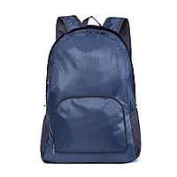 Складной водонепроницаемый рюкзак, цвет темно-синий, фото 1