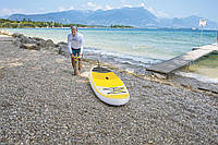 Доска для САП серфинга BESTWAY SUP-БОРД 65305 Бело-желтая (320-76-15 см) | Надувная доска для серфинга