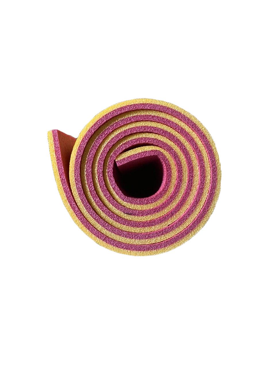 Каремат жовто-червоний, двошаровий, двокольоровий т. 10 мм, розмір 60х180 см, Виробник Україна, TERMOIZOL®