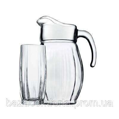 Набор кувшин + 6 стаканов Dance 97874 (1700+6х320мл), фото 2