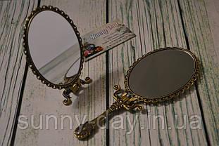 """Заготовка для оформления вышивки """"Зеркало с ручкой"""",  бронза"""
