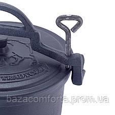 Казан чугунный Kamille на ножках 15л, фото 3