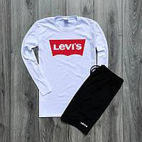 Мужская кофта с длинными рукавами + шорты Levis. Мужской летний костюм джерси +шорты. ТОП качество!!! Реплика