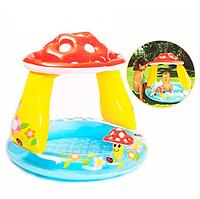 Надувной детский бассейн Intex Грибок с навесом для детей 1-3 лет 102-89 см 41 л
